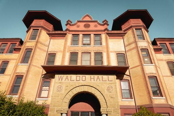 Waldo Hall on a sunny day